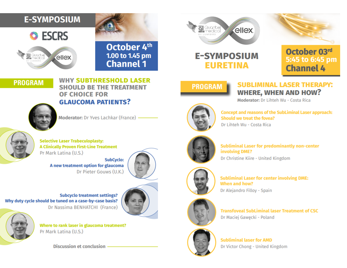 Join us for our e-symposium on October 3th and 4th!